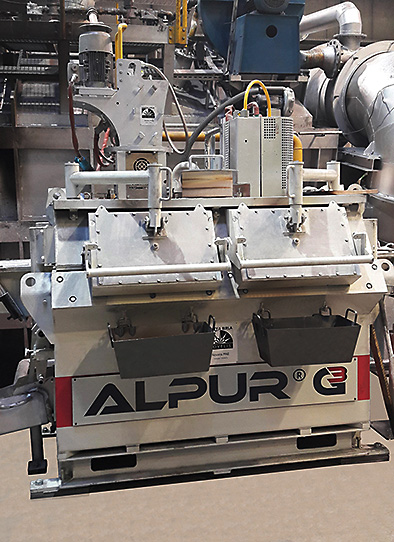 ALPUR®G3-CC line, the one-rotor model, installed on a continuous casting line (RONDAL, Slovenia).