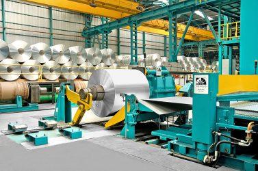 Cast coil under production