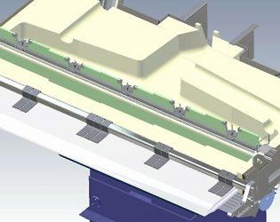 Metal feeding system with adjustable dam system