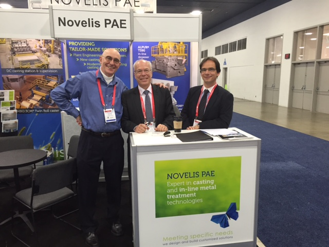 Novelis PAE booth at the last Aluminum USA exhibition, at Detroit in 2015