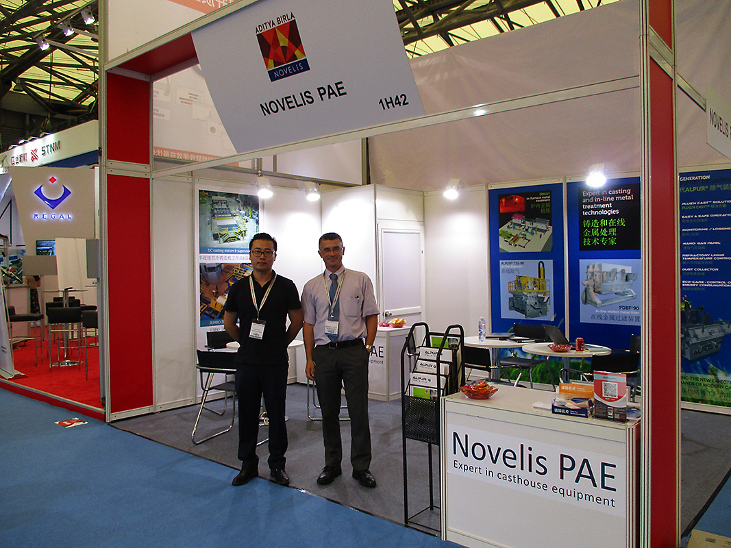 Novelis PAE stand during Aluminium China Exhibition at Shanghai New International Expo center which was held from 19-21 July 2017