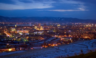 Evening in Siberia, Krasnoyarsk